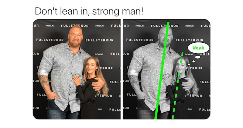 Cringey twitter thread imploring men not to 'lean in' because it makes them look weak | Rivelino @alpharivelino Don't lean strong man! FULLSRKUR FULL UR FULLST RKUR FULL UR ROGUE ROGUE ROGUE ROGUE FULLSTERKUR FULLSTERKUR FULLSTERKUR FULLSTERKUR Weak KUR FULL UR FULL ROGUE ROGUE Fi ERKUR ERKUR KUR FULL KUR FULL FULL STERKUR FULL sTERHUR KUR FULLS KUR FULLS GUE GUE 5:28 PM 5/2/20 Twitter Web App photo of a tall man leaning into a woman while they're hugging