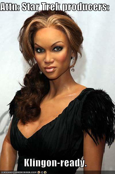klingons sci fi Star Trek Tyra Banks - 1136384768