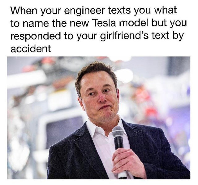 top ten 10 memes daily | Elon Musk Grimes baby engineer texts name new Tesla model but responded girlfriend's text by accident