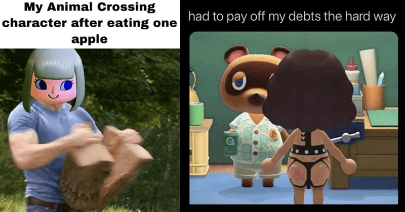 Funny memes, dank memes, animal crossing memes, nintendo switch | Captain America splitting a log My Animal Crossing character after eating one apple | liam @SimpPilgrim had pay off my debts hard way Posted r/AnimalCrossing by u/AmericanVirgin e reddit