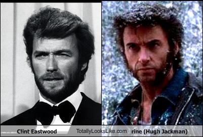 Clint Eastwood TotallyLooksLike.com Wolverine (Hugh Jackman)