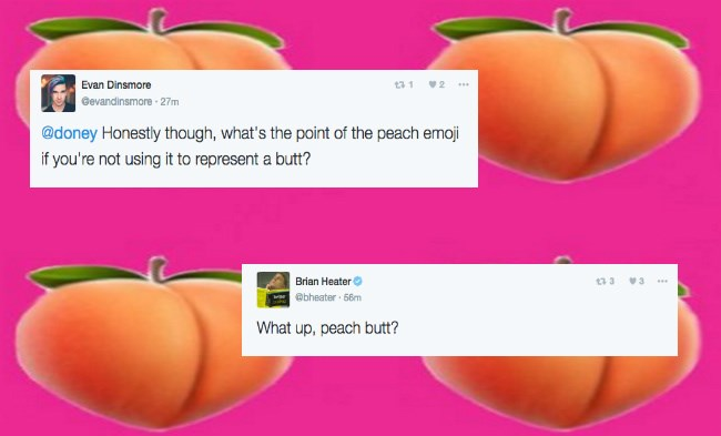 peach emoji looks like a butt