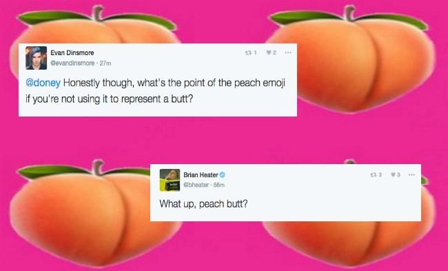 peach emoji looks like a butt