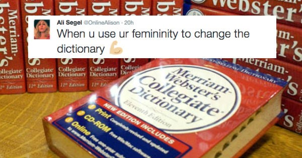 twitter,dictionary,feminism,reactions,merriam webster