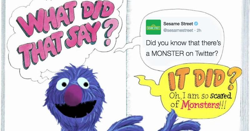 twitter grover Sesame Street monster