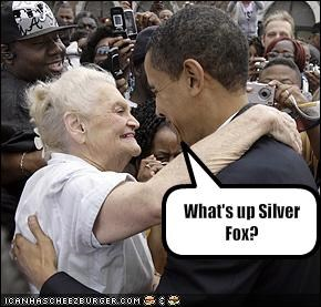 What S Up Silver Fox Cheezburger Funny Memes Funny Pictures
