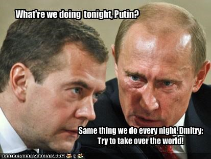 Dmitry Medvedev,pinky and the brain,president,russia,Vladimir Putin