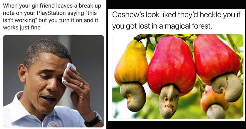 "Funny random memes | Obama wiping sweat girlfriend leaves break up note on PlayStation saying ""this isn't working"" but turn on and works just fine 
