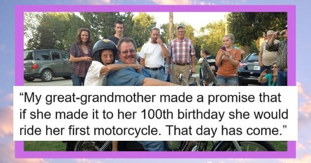 experience first time reactions precious pictures heartwarming reaction | Many years ago my great grandmother made a promise that if she made it to her 100th birthday she would ride her first motorcycle, that day has come
