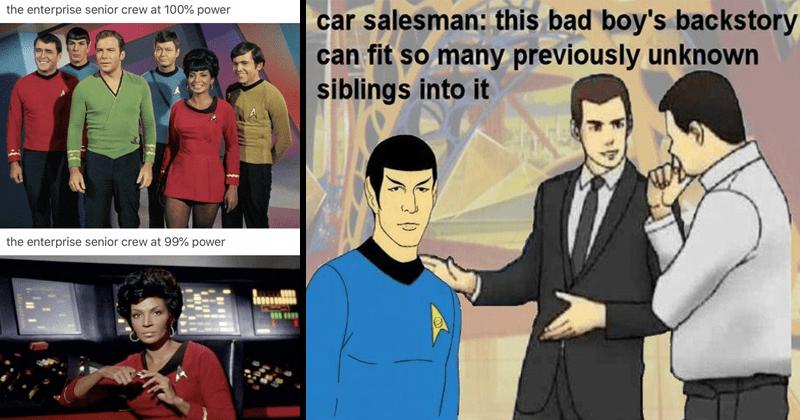 Funny Star Trek memes and tumblr shitposts