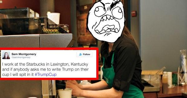 twitter FAIL barista trolling donald trump Starbucks reactions angry - 1164293