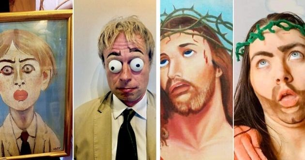 People Recreate Amateur Paintings photo brilliant Facebook funny pics art