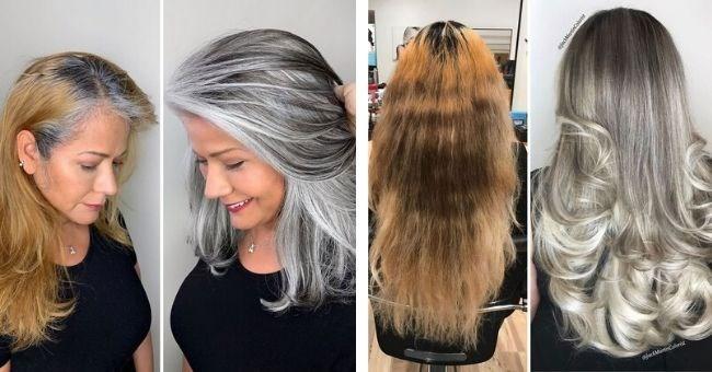 hairdresser women gray instagram rock haircut beauty natural