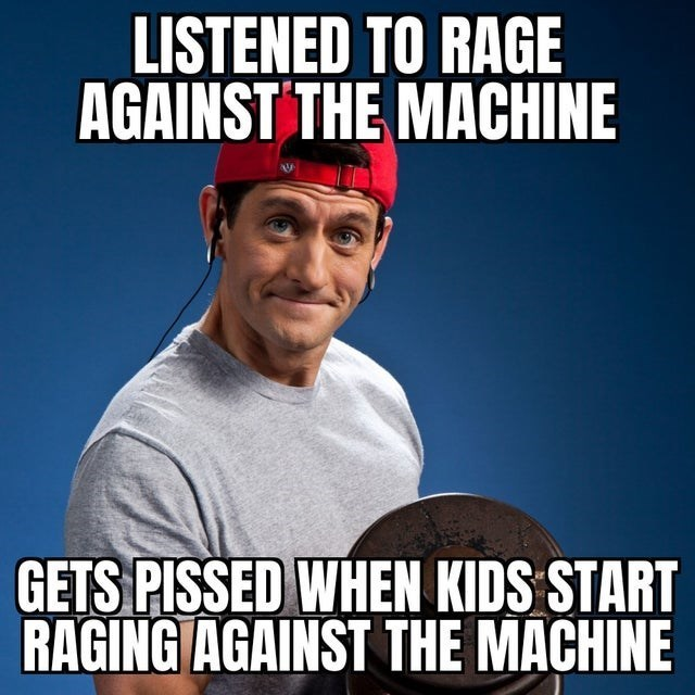 top ten 10 advice animals weekly | aging man wearing his hat backwards while lifting weights LISTENED RAGE AGAINST MACHINE GETS PISSED KIDS START RAGING AGAINST MACHINE