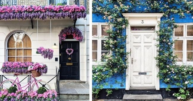 photos doors london insragram capture photographer beautiful flowers door