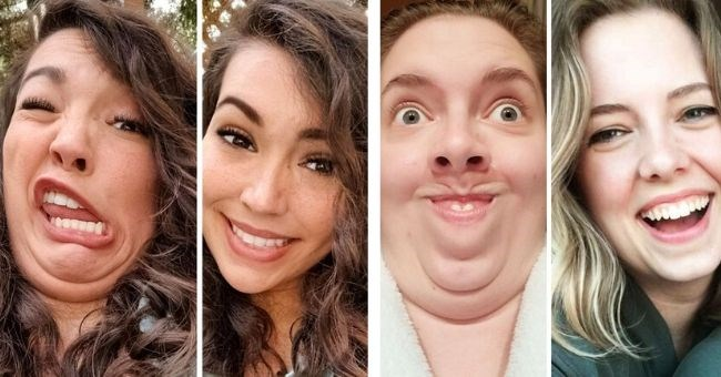 women grimace natural looks reddit post hiding makeup beauty