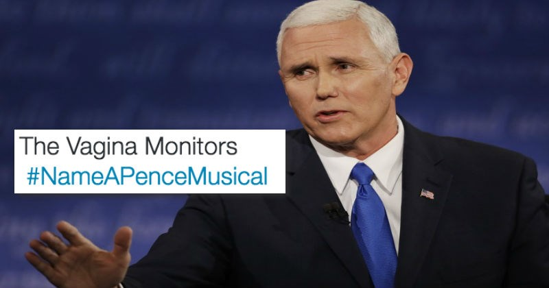 puns about mike pence and musicals