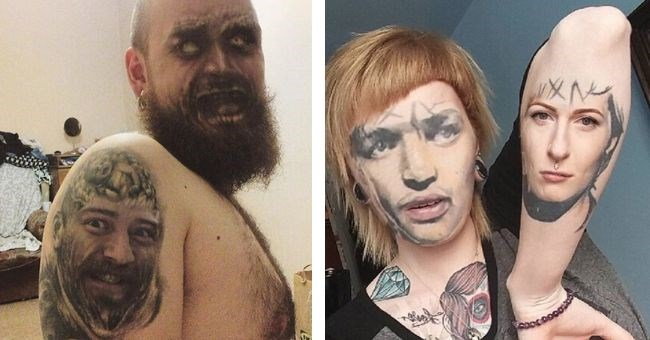 People Who Used the Face Swap App On Their Tattoos With Terrifying Results