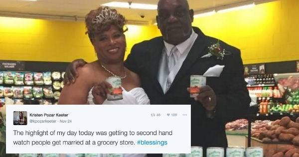 couple marries at store they met at