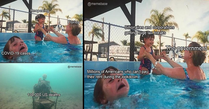"Funny dank memes entitled, ""Mother Ignoring Kid Drowning"" 