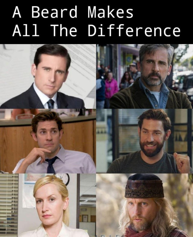 the office top weekly memes | Hat - Beard Makes Al Difference INE
