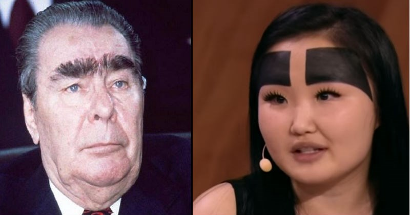 Weird, funny and extreme eyebrows.