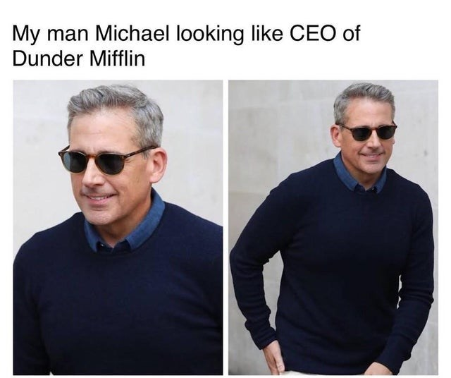 the office top weekly memes | Person - My man Michael looking like CEO Dunder Mifflin