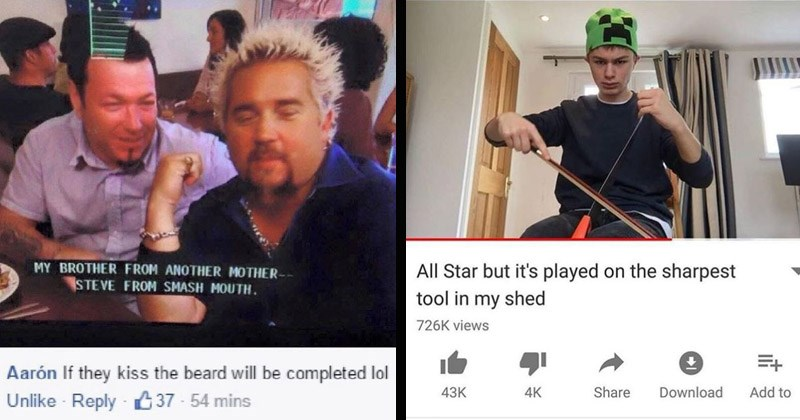 Funny memes about Smash Mouth, All Star, Shrek | MY BROTHER ANOTHER MOTHER STEVE SMASH MOUTH. Aarón If they kiss beard will be completed lol Unlike Reply 37 54 mins Guy Fieri | JI All Star but 's played on sharpest tool my shed 726K views 43K 4K Share Download Add Joe Jenkins D SUBSCRIBE 59K subscribers