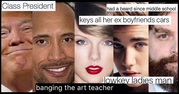 if celebrities were in high school