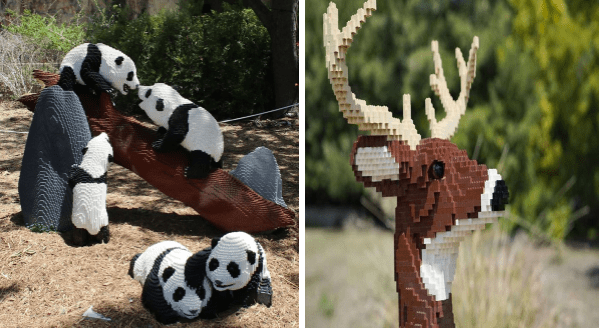 "San Antonio Zoo Offers a ""Drive Thru"" Experience With Animals Made Of LEGO Bricks 