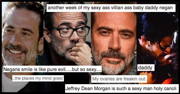Memes and screen grabs of Jeffery Dean Morgan from The Walking Dead