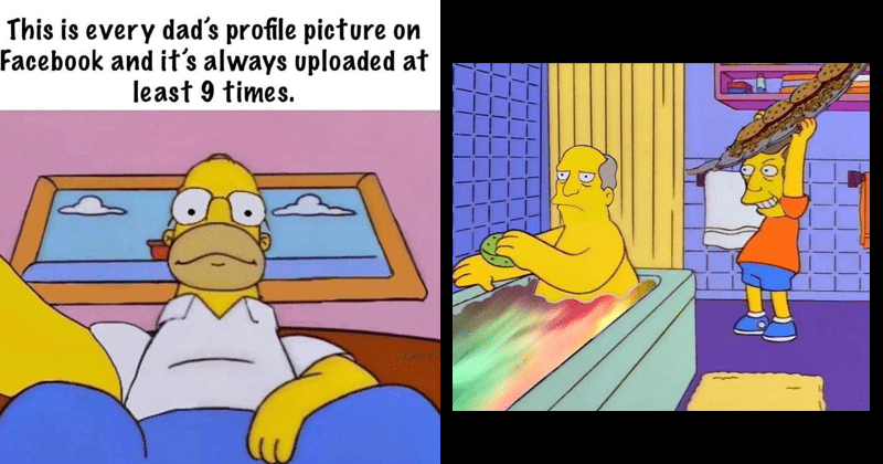 funny simpsons memes and moments | This is every dad's profile picture on Facebook and 's always uploaded at least 9 times. low angle selfie | Bart about to hit Homer in the bathtub but it's Skinner hitting Chalmers with steamed hams