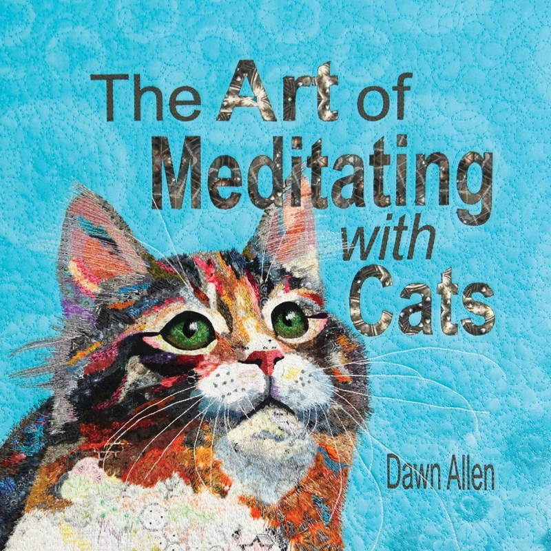 book about meditation with cats | yoga spiritual self help painted cover Art Meditating with Cats author Dawn Allen Meditating with Cats Cats have many gifts offer us, and meditation with cat is wonderful way open heart receive their teachings. Connecting with their love, wisdom, whimsy, charm, and more even few minutes day, can enrich life. Meditating with cat is also an opportunity send focused messages cat help them better understand