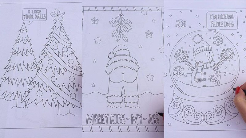 christmas coloring book deadpool holiday funny - 1208581