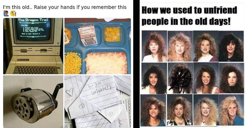 Funny memes about the 1980s | this old Raise hands if remember this Oregon Trail Teu n 1. Travel trall 2. Leara about trall Green Te Ten 4. Tern eund oft la er cheicer Galliker Potomac Fan Chocolate Milk tor jen private whate | used unfriend people old days! scribbling in a yearbook