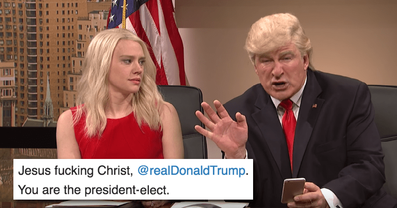 twitter list sketch donald trump restaurant shame saturday night live politics