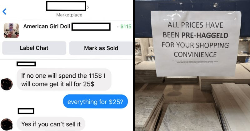 A series of times that choosing beggars had absolutely zero chill | Marketplace American Girl Doll 115 Label Chat Mark as Sold If no one will spend 115 will come get all 25$ everything 25? Yes if can't sell | ALL PRICES HAVE BEEN PRE-HAGGELD SHOPPING CONVENIENCE are non-profit charity and try make all prices as affordable as possible. profits our stores support building affordable homes Ada county
