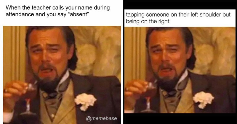 Funny dank memes featuring Leonardo DiCaprio laughing in Django Unchained