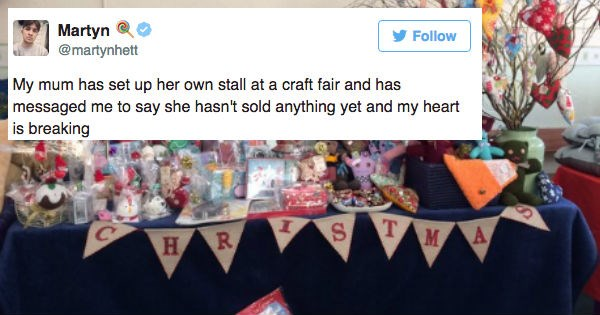 aww christmas twitter heartwarming holiday crafts win - 1221893