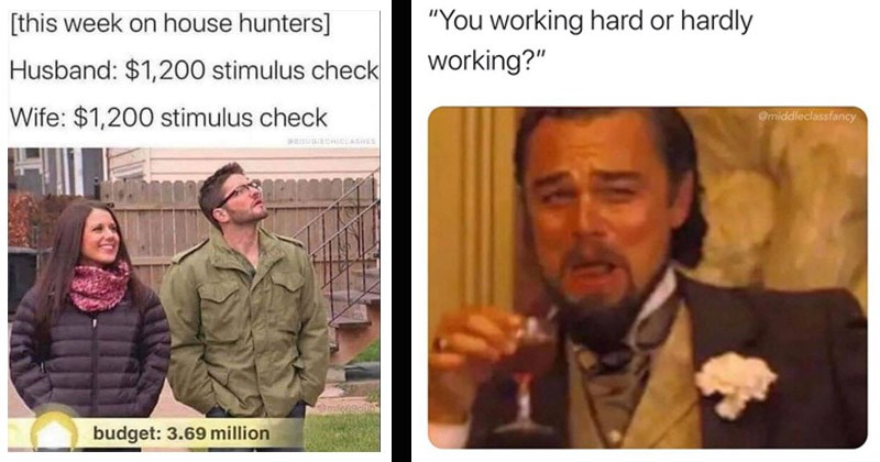 "Funny memes from Instagram account ""Middle Class Fancy"" 