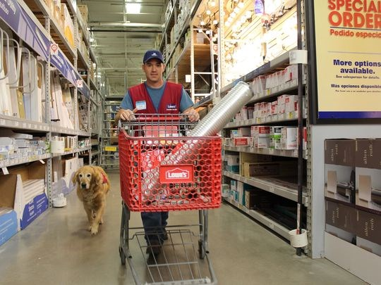 veterans,service dogs,lowes,aww