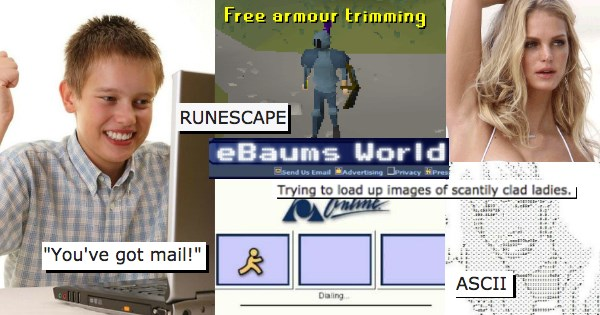 first day on the internet runescape neopets ASCII AOL thanks the internet - 1229061