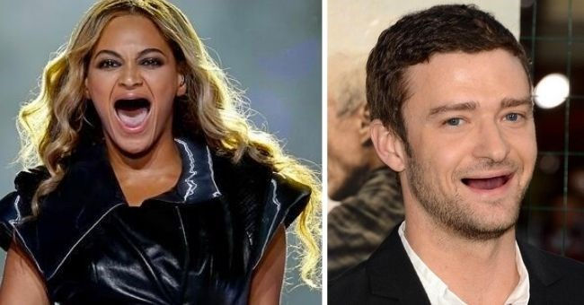 funny pictures of celebrities with no teeth - cover pic Beyoncé and Justin Timberlake with no teeth