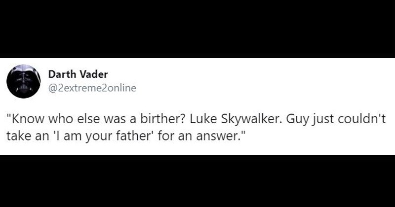 "Funny tweets from the Twitter account ""Darth Vader"" 