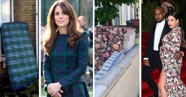 pictures of celebrities looking like mattresses - cover pic Kate Middleton and Kanye West and Kim Kardashian with mattresses