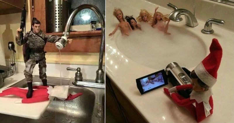 christmas elf on a shelf parenting dad - 1234693