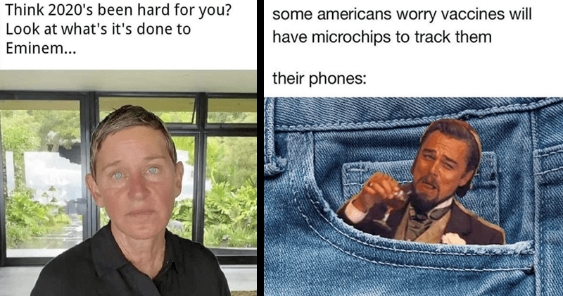 Funny random memes, leonardo dicaprio laughing, dank memes, twitter memes, coronavirus memes, relatable memes, 2020 memes