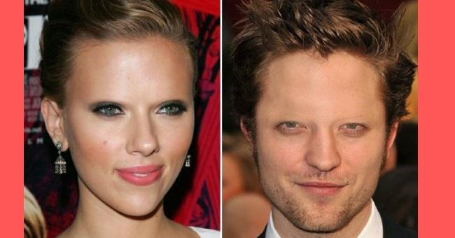 pictures of celebrities without eyebrows - cover pic scarlett johansson and robert pattinson without eyebrows