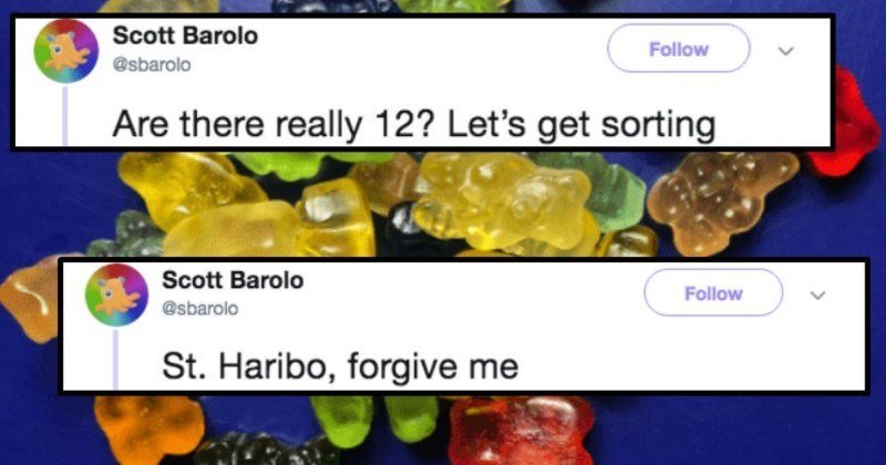 A science professor runs an obsessive breakdown of the world's best gummy bears | Scott Barolo Follow @sbarolo Are there really 12? Let's get sorting St. Haribo, forgive
