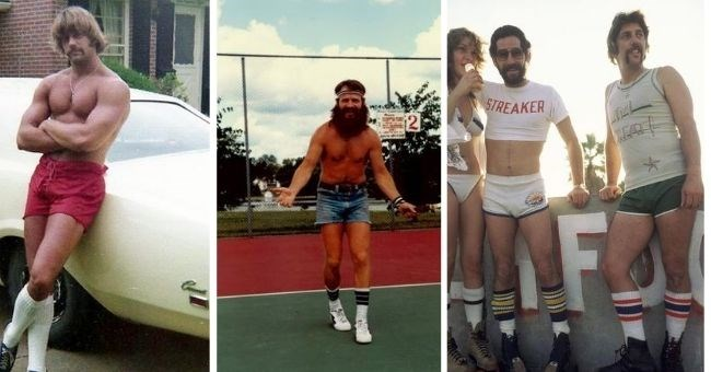 vintage pictures of men in short shorts from the 1970s